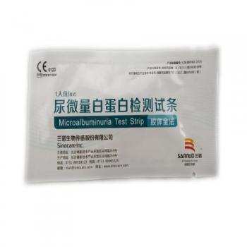 三诺 尿微量白蛋白检测试条 1片