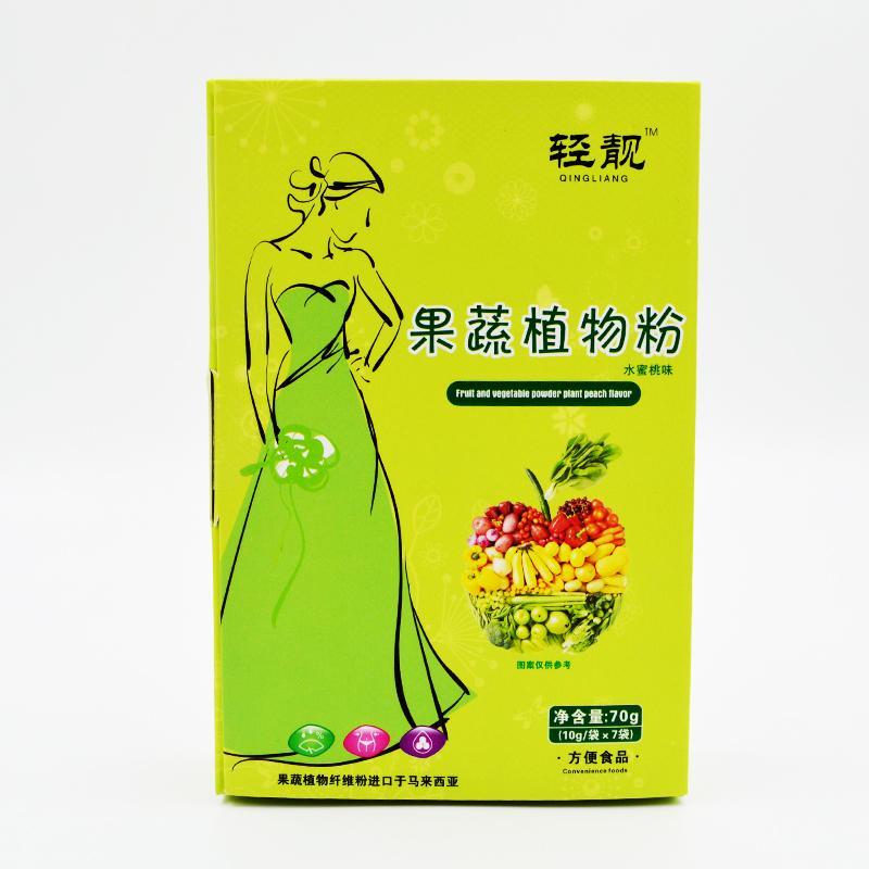 轻靓  果蔬植物粉(水蜜桃味)  70g(10g/袋×7袋)